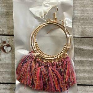 🖤3 for $15🖤 gold + multicolor tassel earrings
